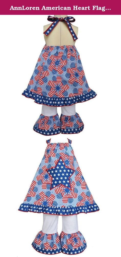 4th July Patriotic Star White Shirt RWB Petal Skirt Dress Girl Clothing NB-8Year