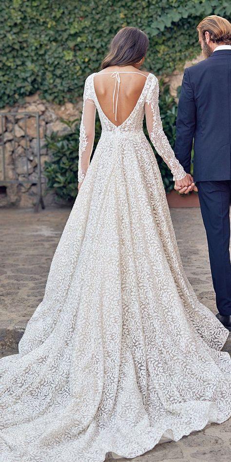 WONÁ Wedding Dresses Total Inspiration For 2020 ❤  wona wedding dresses a line with long sleeves floral appliques #weddingforward #wedding