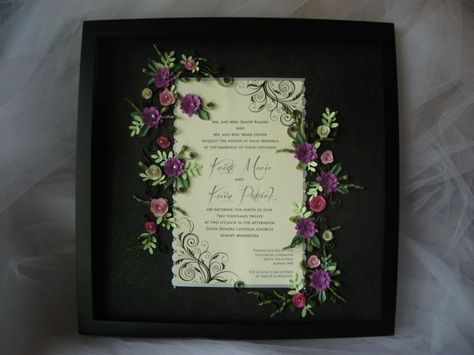 Quilled Wedding Invitation Keepsake Under by dimensionsquilling