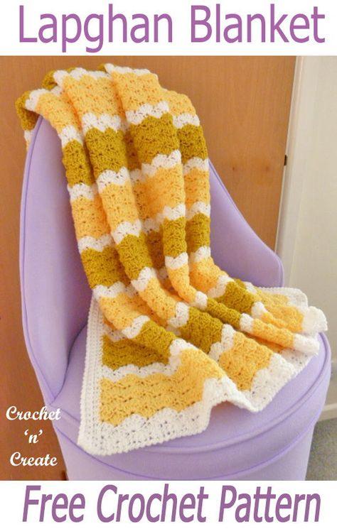 Lapghan Blanket Free Crochet Pattern Crochet Blankets Pinterest