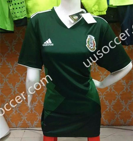 2017 18 mexico home green female thailand soccer jersey aaa