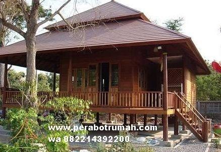 harga rumah panggung kayu minimalis - denah rumah