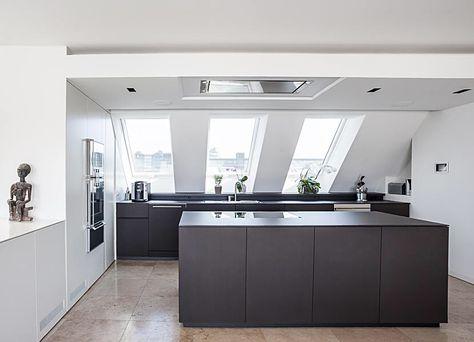 Edle Schreinerküche im Dachgeschoss Interior Exterior Design - u förmige küchen