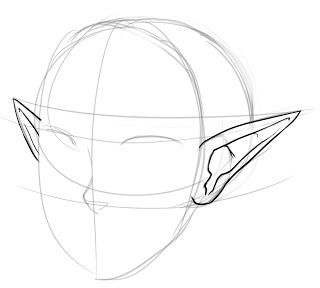 How To Draw Pointed Elf Ears Draw Central In 2020 How To Draw Ears Elf Drawings Elf Ears
