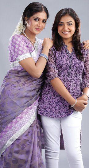 Nazriya Nazim With Meghana Raj Dehati Girl Photo India Beauty Women Beautiful Girl Indian