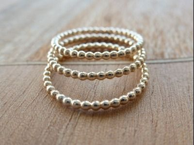 Gold Fill stacking rings by Crystal Stone