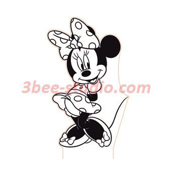 Minnie Mouse 3d Illusion Lamp Vector File For Laser And Cnc 3bee Studio Mickey Mouse Coloring Pages Disney Coloring Pages Minnie Mouse Coloring Pages
