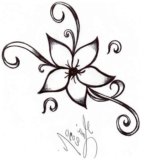 Image Result For Easy Sketches Of Flowers Flower Drawing Design Simple Flower Design Simple Flower Drawing