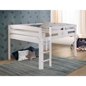 Camaflexi Concord White Full Size Junior Loft Bed T1303f Junior Loft Beds Loft Bed Low Loft Beds