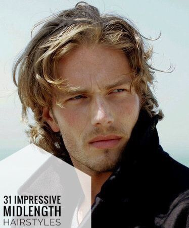 31 Impressive Mid Length Hairstyles For Men Men Blonde Hair Blonde Male Models Blonde Actors Male