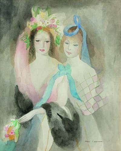 Marie Laurencin 1883 1956 Deux Jeunes Filles Auction Fr Is