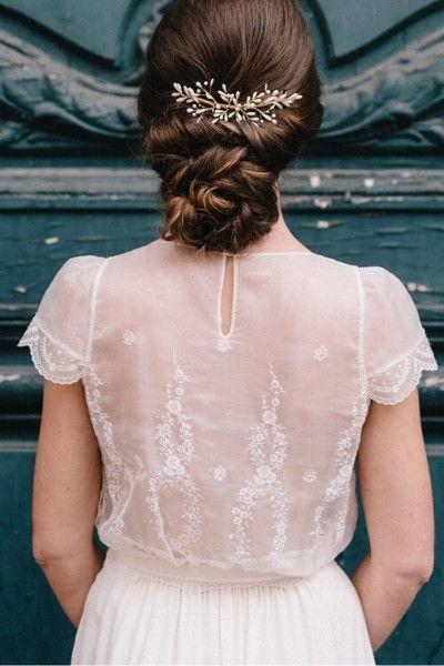 Peigne Hortense Lizeron Peigne Cheveux Peigne Cheveux Mariage Robe De Bouquetiere