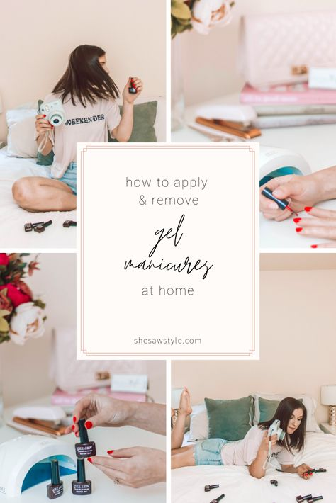 How to Apply and Remove Gel Manicures At Home   She Saw Style#apply #gel #home #manicures #remove #style