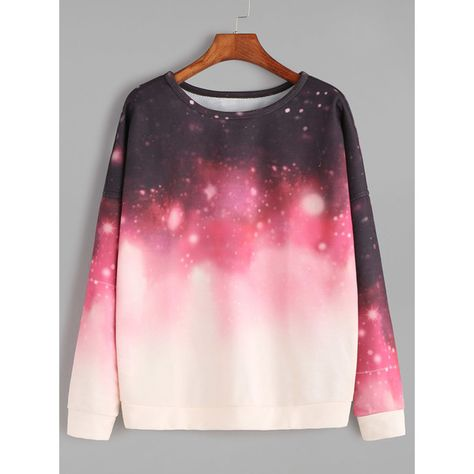 Online shopping for Ombre Galaxy Print Drop Shoulder Sweatshirt from a great selection of women's fashion clothing & more at MakeMeChic. Outfits Teenager Mädchen, Teen Girl Outfits, Girls Fashion Clothes, Teen Fashion Outfits, Outfits For Teens, Girl Fashion, Gothic Fashion, Black Milk Clothing, Jugend Mode Outfits