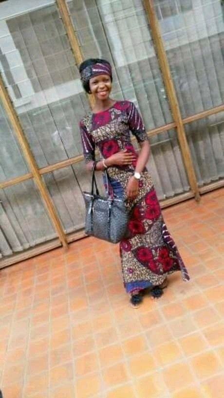 Kitenge Round Front Neck And Deep Open Neck By Jolysha Fashion Designers Jinja Uganda Fashion Fashion Design Two Piece Skirt Set