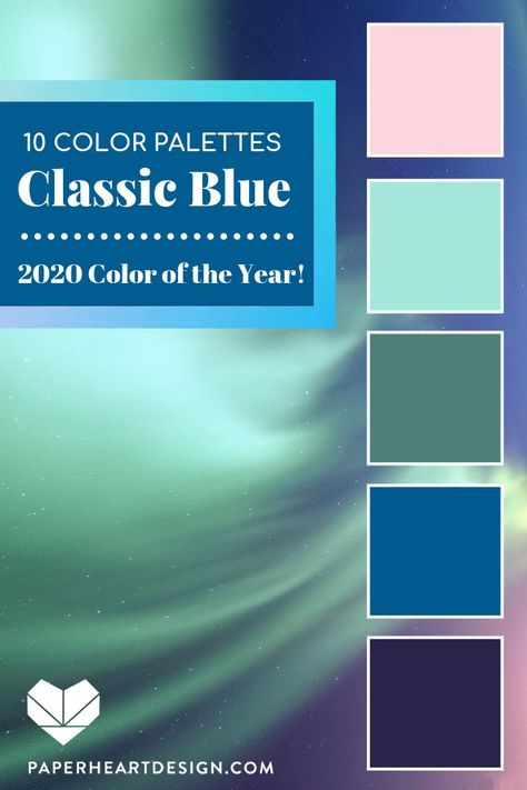10 Beautiful Classic Blue Color Palettes! Pantone Color of the Year 2020