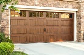 Garage Door Clopay Long Panel Door With Long Rectangle Window In Mocha Brown See Separate Color Swa Wood Garage Doors Garage Door Windows Garage Door Design