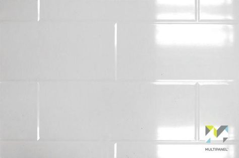 White Gloss Brick Multipanel Tile Wall White Paneling Bathroom Wall Panels White Brick Tiles