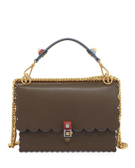 1b302270 Kan I Scalloped Leather Top-Handle Bag | ⚜ FENDI ⚜ | Bags, Fendi ...