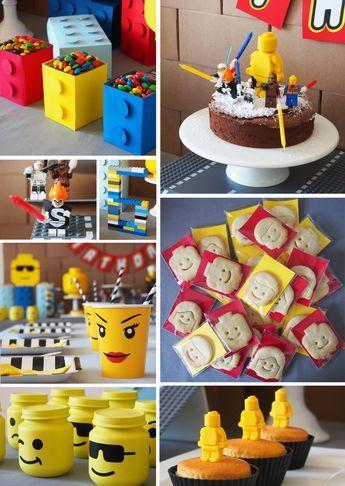 Lego Party Anniversaire Garcon 6 Ans Theme Anniversaire Garcon Decoration Anniversaire Garcon