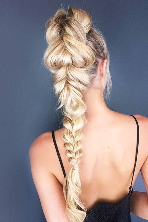 Braided high pony by Jacque Morrison click now for more.