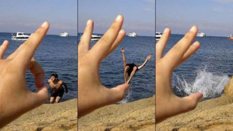 Gone with the flick of a finger!: The forced perspective