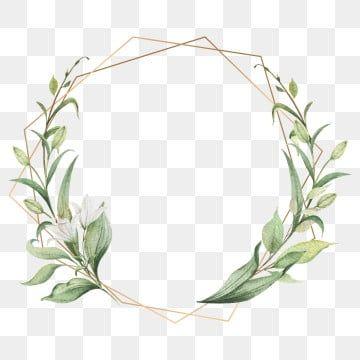 Elegant Leaf Frames Frame Watercolor Wedding Invitation Png And Vector With Transparent Background For Free Download Flower Frame Watercolor Flower Wreath Watercolor Flowers