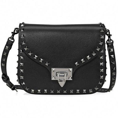 955847da64be Valentino Rockstud Leather Black Crossbody ( 1