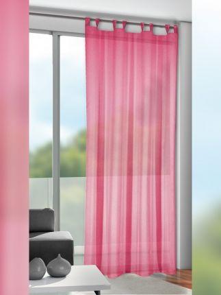 Gardinen Pink Rosa Gunstig Im 2er Set Kaufen Gardinen Outlet Haus Deko Schlaufengardinen Fensterdekoration