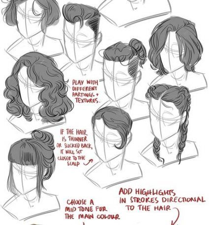 44 Trendy Hair Art Reference Faces Art Reference How To Draw Hair Art Reference Poses
