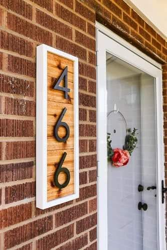 Diy Modern House Number Sign With Images House Numbers Diy