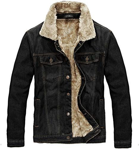 Brandit Men Denim Jacket Sherpa