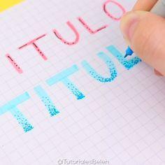 3 ideas para hacer títulos bonitos y fáciles para tus apuntes #titulos #school #tutorial #tutoriales #video #manualidades #bulletjournal #tittles #apuntesbonitos #diy #youtube #vsco #crafts #escuela