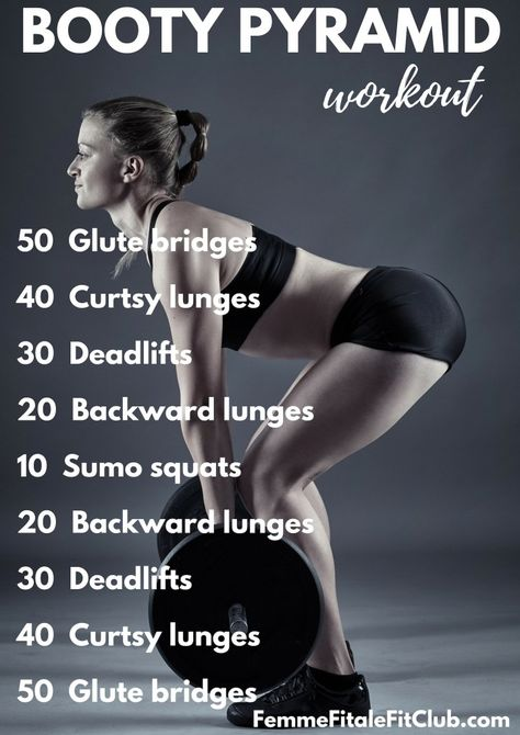 Booty Pyramid Workout 🍑