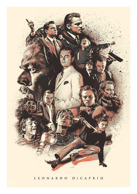 Leonardo DiCaprio poster artwork
