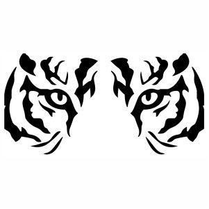 Boho Lion Vector File Tiger Silhouette Tribal Tiger Lion Silhouette