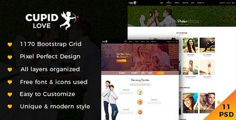 CUPID LOVE — Dating Website PSD Template | Stylelib