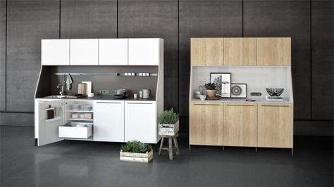 Smart einrichten 17 clevere lösungen für die mini küche kochgeschirr verteilt und mehrere