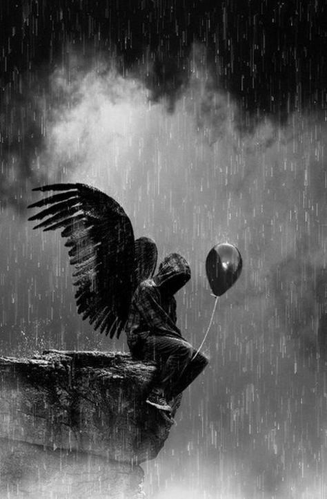 Картинки на аву грустные ангелы