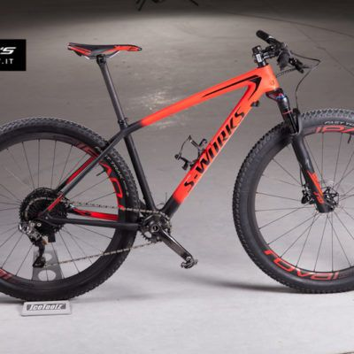Rosso Nero S Works Epic Hardtail Xtr Di2 Uomo Bicicletta