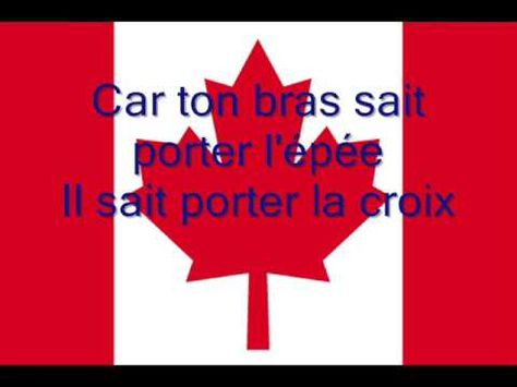 O Canada en français with lyrics!  Hymne national du Canada en Français