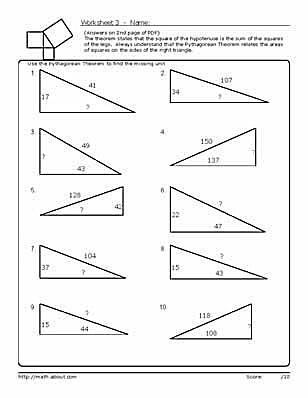 Master The Pythagorean Theorem With These Geometry Worksheets