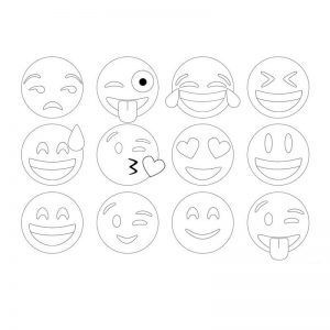 Los Mejores Dibujos De Emojis Para Colorear E Imprimir Moldes De Letras Bonitas Moldes De Letras Emojis