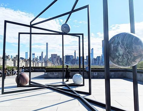 "NYC's CULTURE CURATOR on Instagram: ""WHAT:  PARAPIVOT. ""...has created two sculptures using steel and stone to evoke a miniature solar system, a piece of space that has settled…"""