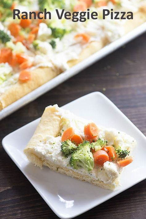 Cold Veggie Pizza - the perfect snack for any get together!
