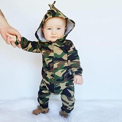 Funny Baby Boys Camouflage Summer Romper Jumpsuit Short Sleeve Playsuit