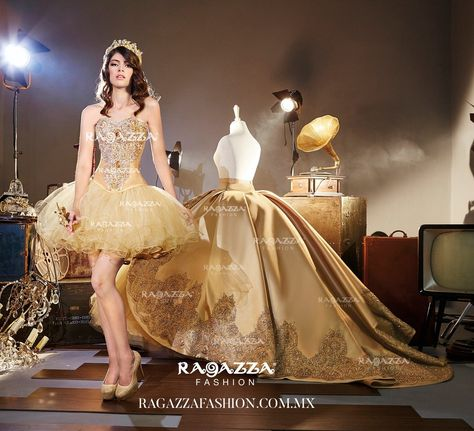 Beaded Strapless Quinceanera Dress by Ragazza Fashion Style B67-367-Ragazza Fashion-ABC Fashion