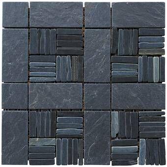 Landscape Wonder 12 X 12 Basketweave Natural Stone Blend Mosaic
