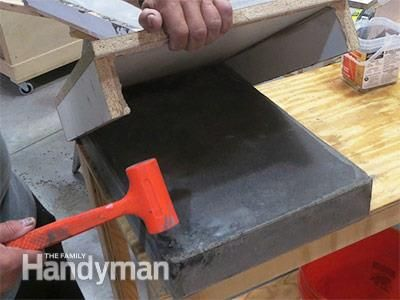 Build An Outdoor Table With Quikrete Countertop Mix Outdoor