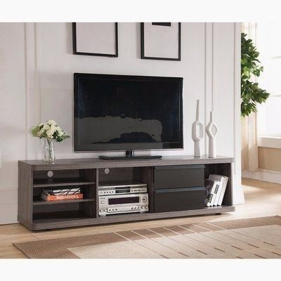 Orren Ellis Jakes Solid Wood Tv Stand For Tvs Up To In 2020 Solid Wood Tv Stand Tv Stand Floating Tv Stand